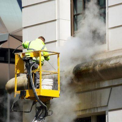 hot box doff super heated steam cleaning