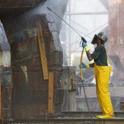 industrial super heated vapor blast cleaning